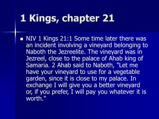 1 Kings, chapter 21