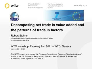 Decomposing net trade in value added and the patterns of trade in factors