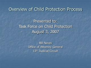 Overview of Child Protection Process