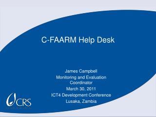 C-FAARM Help Desk