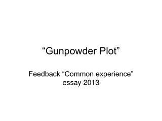 �Gunpowder Plot�