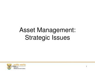 Asset Management: Strategic Issues