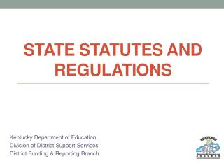 State statutes and regulations