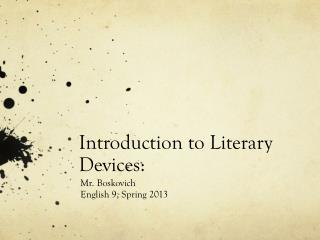 Introduction to Literary Devices: