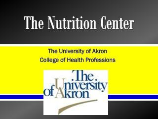 The Nutrition Center