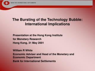 The Bursting of the Technology Bubble: International Implications
