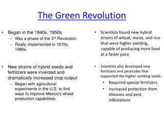 The Green Revolution
