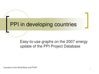 PPI in developing countries