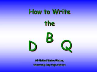 How to Write the