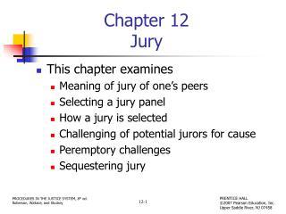 Chapter 12 Jury