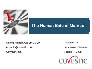 The Human Side of Metrics