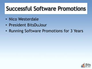 Successful Software Promotions