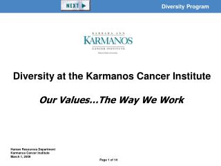 Our Values…The Way We Work