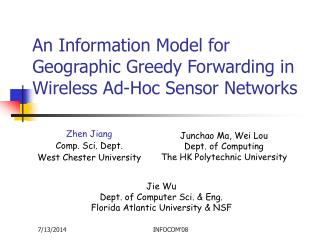 An Information Model for Geographic Greedy Forwarding in Wireless Ad-Hoc Sensor Networks