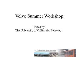Volvo Summer Workshop