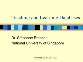Teaching and Learning Databases
