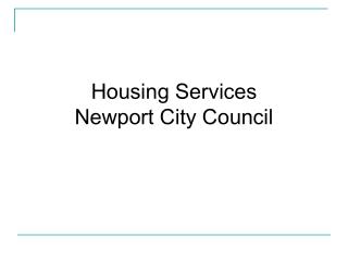 Housing Services Newport City Council