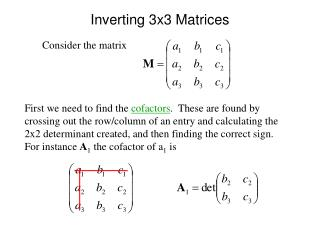 Inverting 3x3 Matrices