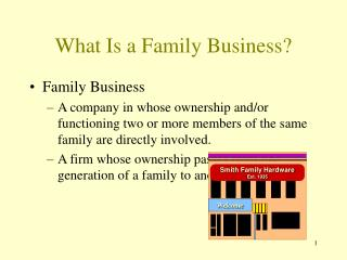 What Is a Family Business?