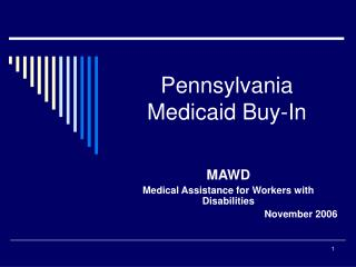 Pennsylvania Medicaid Buy-In