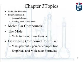 Chapter 3Topics