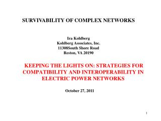 KEEPING THE LIGHTS ON: STRATEGIES FOR COMPATIBILITY AND INTEROPERABILITY IN ELECTRIC POWER NETWORKS