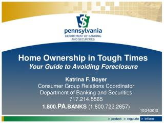 Home Ownership in Tough Times Your Guide to Avoiding Foreclosure