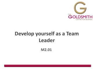 Develop yourself as a Team Leader