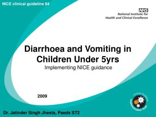 Diarrhoea and Vomiting in Children Under 5yrs