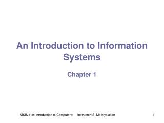An Introduction to Information Systems