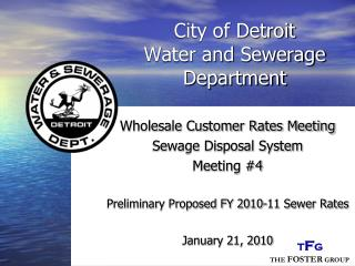 City of Detroit Water and Sewerage Department