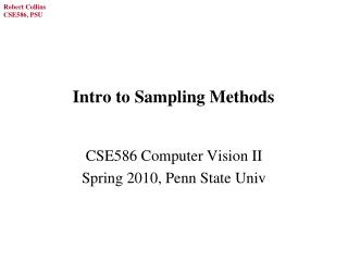Intro to Sampling Methods