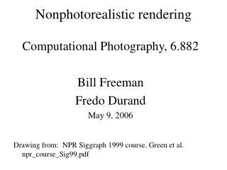 Nonphotorealistic rendering