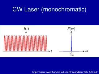 CW Laser (monochromatic)
