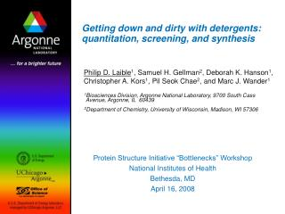 Getting down and dirty with detergents: quantitation, screening, and synthesis