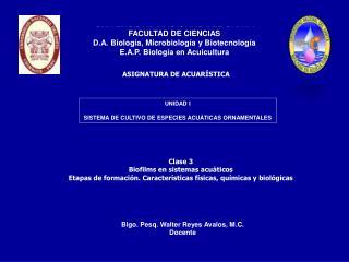 ASIGNATURA DE ACUARÍSTICA