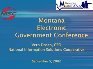 Montana  Electronic  Government Conference