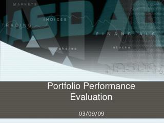Portfolio Performance Evaluation