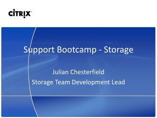 Support  Bootcamp  - Storage
