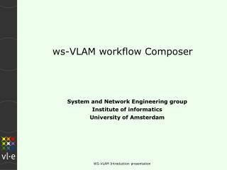 ws-VLAM workflow Composer
