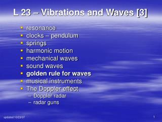 L 23 – Vibrations and Waves [3]