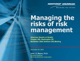 Managing the risks of risk management