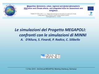 Le simulazioni del Progetto MEGAPOLI: confronti con le simulazioni di MINNI D'Allura, S. Finardi, P. Radice, C. Silibel