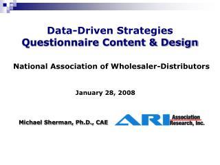 Data-Driven Strategies Questionnaire Content & Design