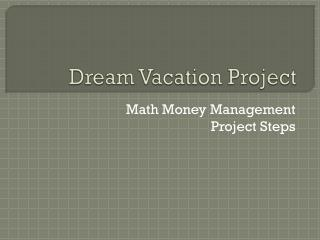 Dream Vacation Project