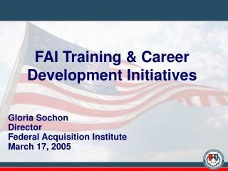 FAI Training  Career Development Initiatives