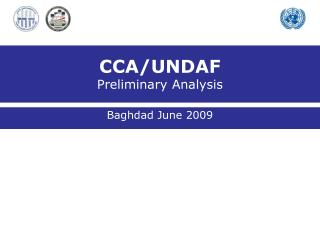 CCA/UNDAF Preliminary Analysis