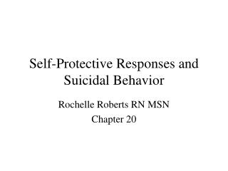 Self-Protective Responses and Suicidal Behavior