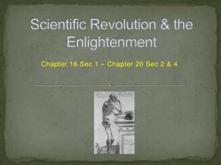 Scientific Revolution & the Enlightenment