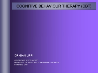 Cognitive Behaviour Therapy: CBT